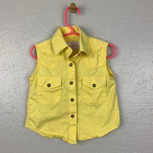 Panhandle Slim Size S Yellow Pearl Snap Shirt